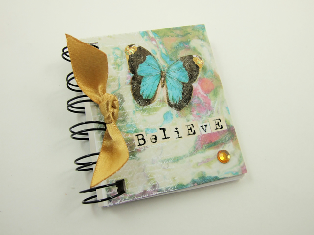 Miniature Notebook, Butterfly, Emergency Contact, Address Book