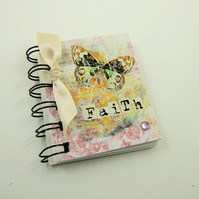 Miniature Notebook, Pastel Colured Butterfly, Emergency Contact, Address Book