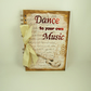 Journal, Handmade Notebook, Writing Journal A5 Size, Music and Dance
