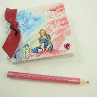 Miniature Elf Book & Pencil