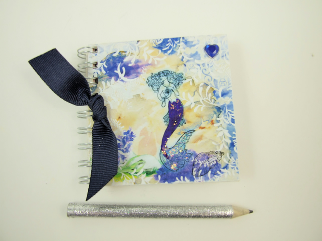 Miniature Mermaid Scrapbook & Pencil