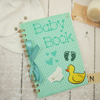 Baby Memory Book,  Photograph Album,  Journal, Scrapbook, Baby Memories