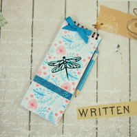 Notebook, Shopping List Book, Food Diary, Blue Dragonfly