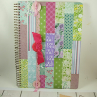 Large A4 Handmade Scrapbook Album or Journal, Quilting and Sewing