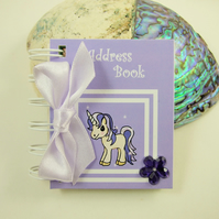 Purple Unicorn Mini Address Book, 3 x 2.5 Inches handy bag size