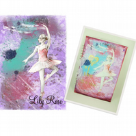 Personalised Memory Scrapbook. Ballet Dancer, Handmade. A4 Size