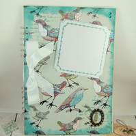 Large A4 Handmade Scrapbook Album or Journal, Birds, Can be Personalised