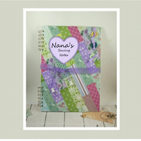 Personalised  A4 Handmade Scrapbook Album or Journal, Quilting and Sewing