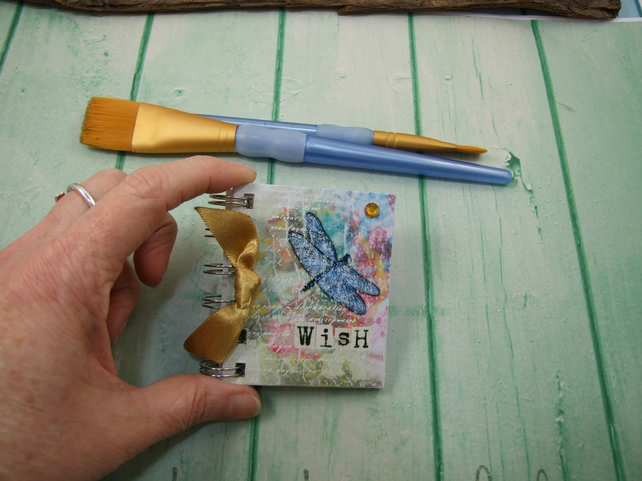 Mini Address Book, Dragonfly, Emergency Contact, Handy Bag Size