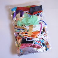 Destash Ribbon Scraps - Short lengths 8-12 inches for Card Making or Sewing