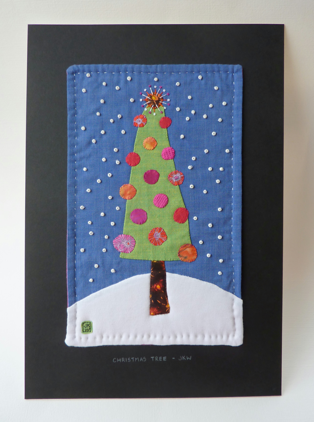 Christmas Tree - handsewn applique picture