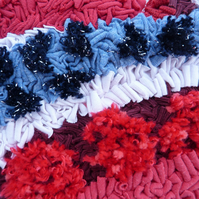 Textured Heart Decoration - rag rug technique - SALE item
