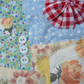"A Small Textile Collage Wall Hanging : ""Mum's Dresses"""