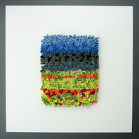 Abstract Landscape Textile Art - Rag Rug Technique - Prodding