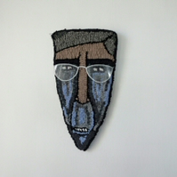 Rees-Mogg - Hand Hooked Wall Decoration - Mask Caricature - Political Humour