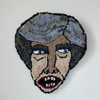 May - Hand Hooked Wall Decoration - Caricature - Political Humour
