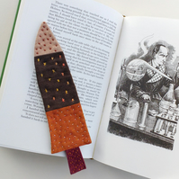Little Tree Bookmark - Patchwork Fantasy Tree, Decorated With Hand Stitch