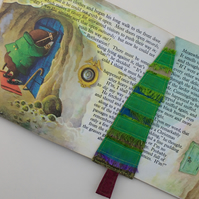 Little Tree Bookmark - Patchwork Fantasy Tree, Decorated With Recycled Sari Yarn