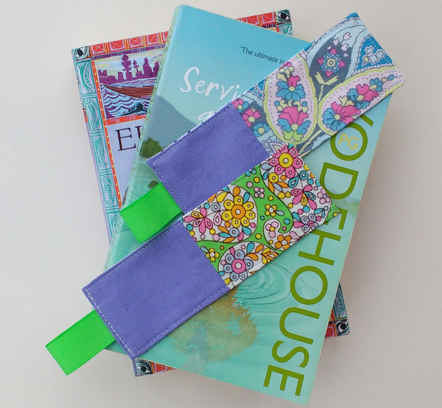 Two Patchwork Bookmarks - Small Gift Idea