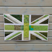 Green Britain no. 20 - Patchwork Union Jack Flag