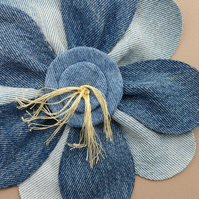 Upcycled Denim Flower Brooch or Coursage