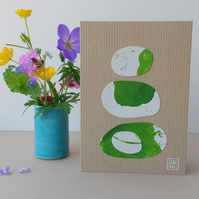 Original Collage Art Card - eco friendly blank greetings card Stacks Series No 2