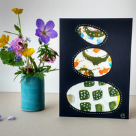 Original Collage Art Card - blank greetings card Stacks Series No 10