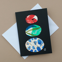 Original Collage Art Card - blank greetings card Stacks Series No 19