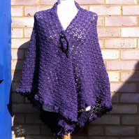 Amethyst Crochet Soft 4Ply Wool Shawl