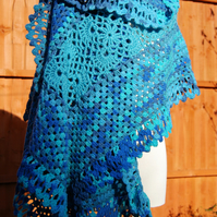 Caribbean Sea Crochet Shawl