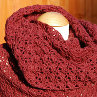 Garnet Crochet Triangular Comfort Shawl