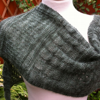 Eucalyptus Green mohair lace hand knitted scarf