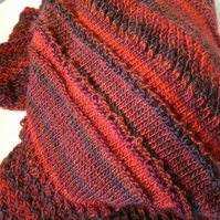 Handknitted Colours of Autumn Lace Draping Shawl