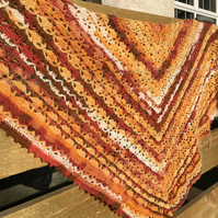 Warm Sunset colours Handmade Scarf