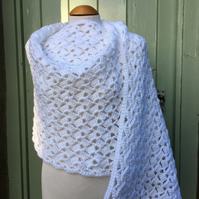 White Handmade Lace Shawl