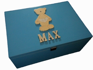 Teddy Bear Keepsake Box - Personalise with any name!