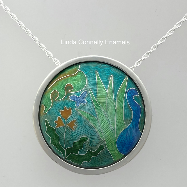Memories of Kew silver and enamel pendant