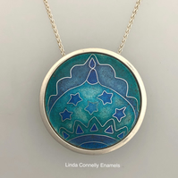 Brighton Pavilion silver and enamel necklace