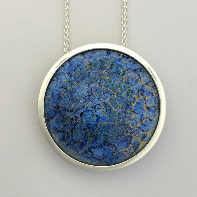 'Indian Memories' silver and enamel pendant.