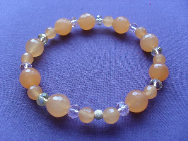 Sale Orange Agate Bracelet