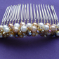 Gold  and Cream Hair Comb