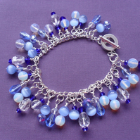 Clearance Shades of Blue Charm Bracelet