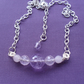 Amethyst and Rose Quartz Bar Necklace