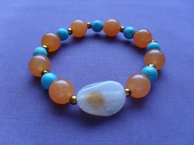 Orange and Blue Bracelet