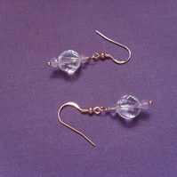 Amethyst and Quartz Earrings