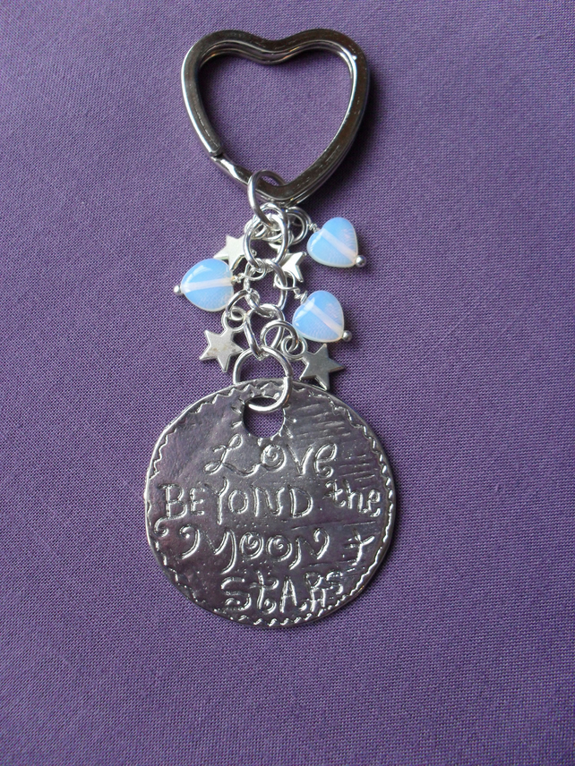 Moon and Stars Keyring