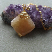 Honey Quartz Pendant
