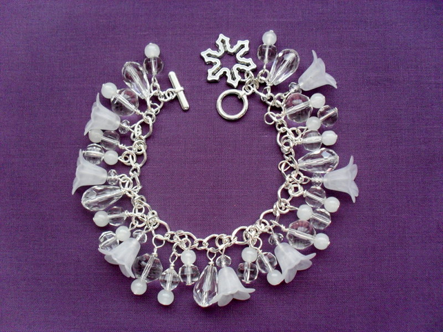 Clearance was 12.50 now 5 Winter Frost Charm Bracelet