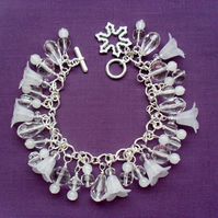 Clearance was 12.50 now 6 Winter Frost Charm Bracelet