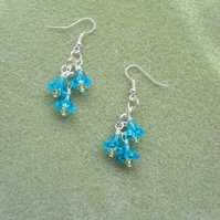 Glass Flower Beaded Earrings